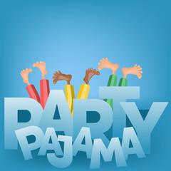 Illustration of boys having pajama slumber party