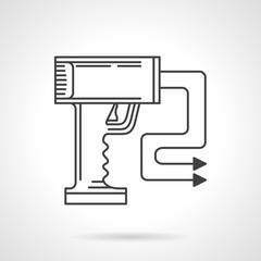 Contour vector icon for stun gun