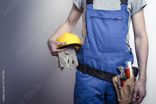 Leinwandbild Motiv Bauarbeiter