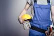 Leinwanddruck Bild - Bauarbeiter