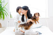 asian mother and baby lifestyle image