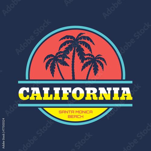 California Santa Monica - vector illustration for T-Shirt print - 77503524