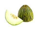 Cut piel de sapo melon isolated