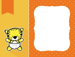 baby leopard frame