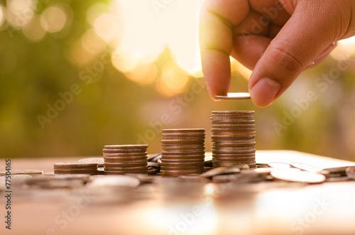 Leinwanddruck Bild Hope of investor concept