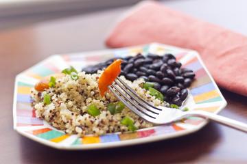Quinoa Carrots and Black Beans
