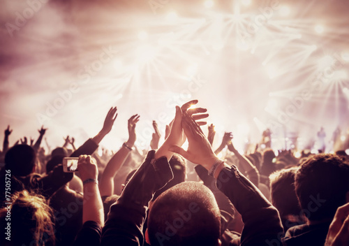 Large group of people enjoying concert - 77505726