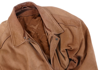 Classic tan leather jacket