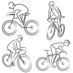 riding a bicycle set