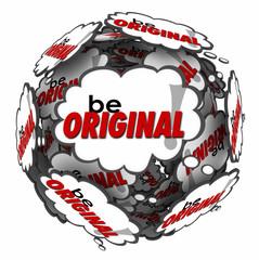 Be Original Thought Clouds Creative Inventive Imaginative Thinki
