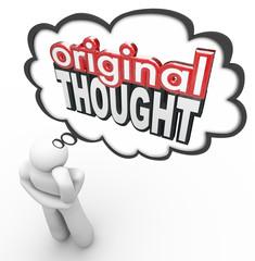 Original Thought 3d Words Thinker Creative Imaginative New Idea