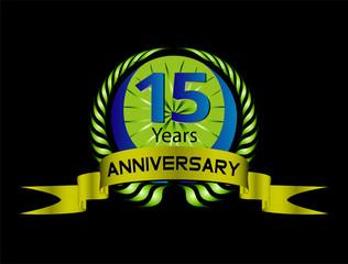 15 year Anniversaryvector celebration