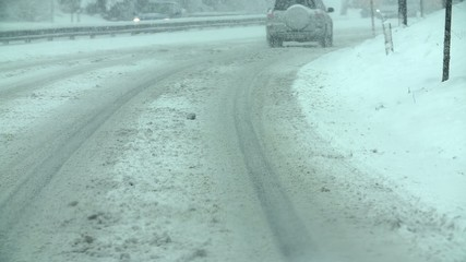 Driving on the highway slush
