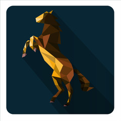 abstract elegant horse with geometric  composition