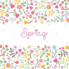 Cute spring postcard.