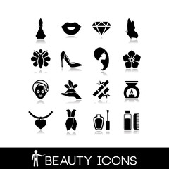 Beauty Products Icons Set 8