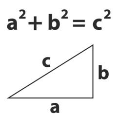 Pythagoras theorem vector black