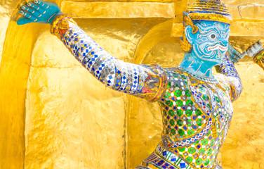 Giant golden pagoda side bearing