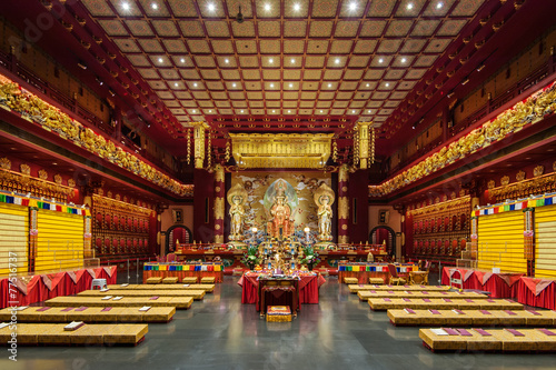 In the Buddha Tooth Relic Temple and Museum, Singapore