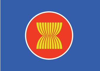 Asian flag, southeast asia flag, southeast asia symbol
