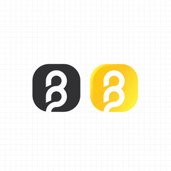 "letter ""b"" logo,icon,symbol vector design template"