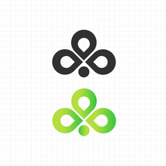 abstract / leaf logo,icon,symbol vector design template