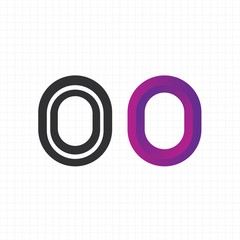 "letter ""o"" logo,icon,symbol vector design template"