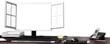 canvas print picture - Monitor frei für Inhalt
