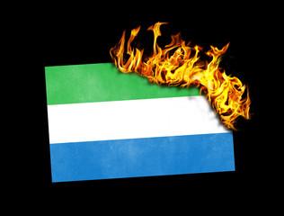 Flag burning - Sierra Leone