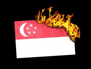 Flag burning - Singapore