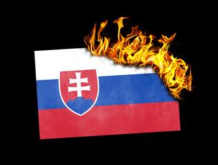 Flag burning - Slovakia