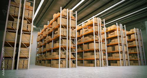 Fotobehang Industrial geb. warehouse