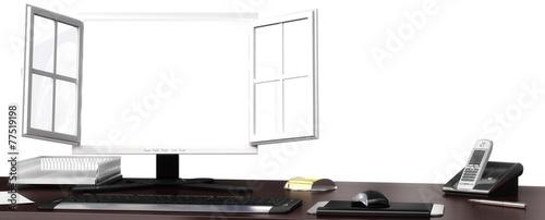 canvas print picture Monitor frei für Inhalt
