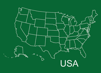 UAS map, USA states, USA
