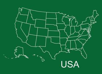 UAS map, USA states, USA