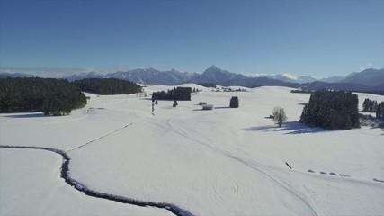 Winterlandschaft von oben
