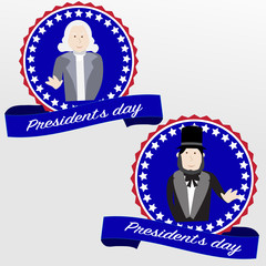 Happy Presidents day badges