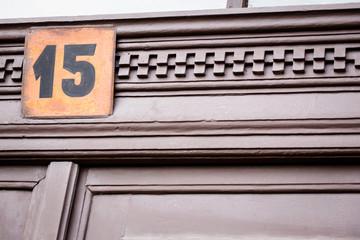 a street-number above the door