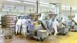 Leinwanddruck Bild - Lebensmittelindustrie - Wurstherstellung // Food Industry