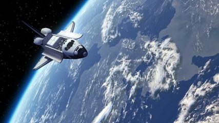 Space Shuttle Orbiting Earth