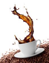"Постер, картина, фотообои ""splashing coffee"""