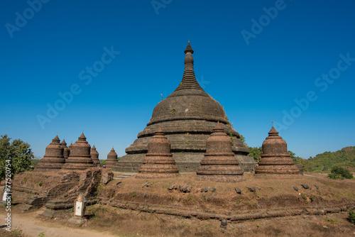 pagoda temple in Myanmar (Burma), Mrauk-U Poster
