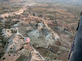 Tourist attraction of Cappadocia , the flight with the balloon