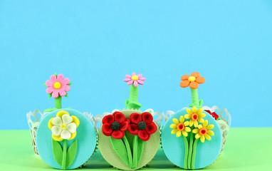 spring flowers sweet muffins dessert