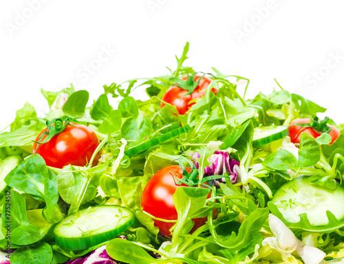 Leinwandbild Motiv Frischer Salat