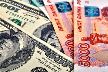 USD RUB banknotes