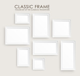 Realistic picture frames. Perfect for your presentations.