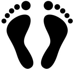 Fußabdruck Vektor