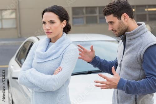 Leinwanddruck Bild Young couple having an argument