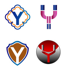 Letter Y logo Icons Set Vector Design